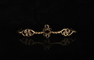 Medieval Black Gem Drop Gold Circlet