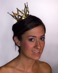 Queen of Hearts Gold Mini Crown