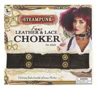 Leather and Lace Styeampunk Choker