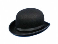 Black Felt Derby Costume Cowboy Hat