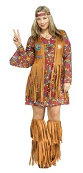 Peace and Love Hippie Plus Size Ladies Costume