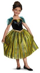 Girls Anna Frozen Deluxe Coronation Halloween Costume
