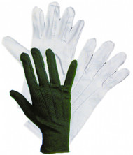 Short Theatrical Gloves in Black and White