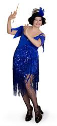 Lava Diva Ladies Plus-sized 20s Flapper Dress
