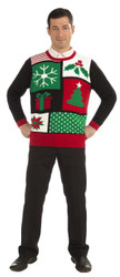 Jolly Holiday Christmas Patchwork Sweater