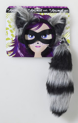 Racoon Ears and Tail Animal Set