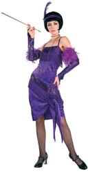 Fabulous Purple 20s Flapper Costume