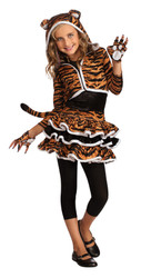 Girls Tiger Dress Costume