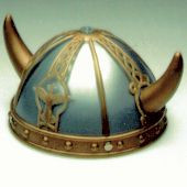 Kids Blue and Gold Viking Helmet Hat