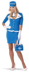 Retro Flight Stewardess Ladies Costume