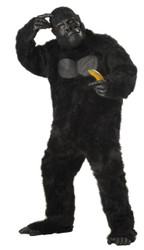Mens Plus Gorilla Mascot Costume