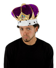 Kings Purple Plush Crown