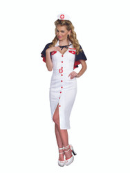 Retro Ladies Night Nurse Costume with Cape