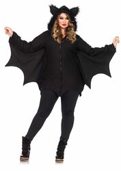Ladies Plus Size Cozy Bat Costume