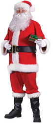 Plus Size Flannel Santacon Santa Suit