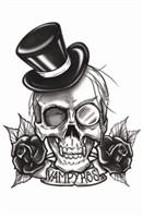 Vampyros Gothic Steampunk Temporary Tattoo