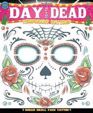 Sugar Skull Day of the Dead Skull Face Temporary Tattoo