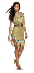 Ladies Plus Size Prestige Pocahontas Costume