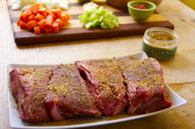boneless short rib seasoned with italian seasonings