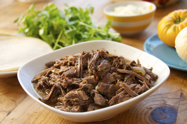 how to make seasoned shredded beef
