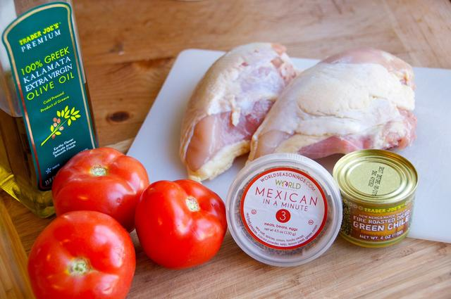 ingredients for mexican shredded chicken