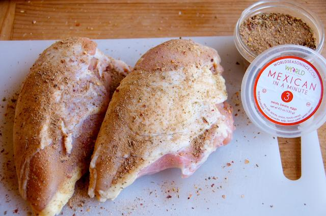 chicken breasts with mexican seasonings