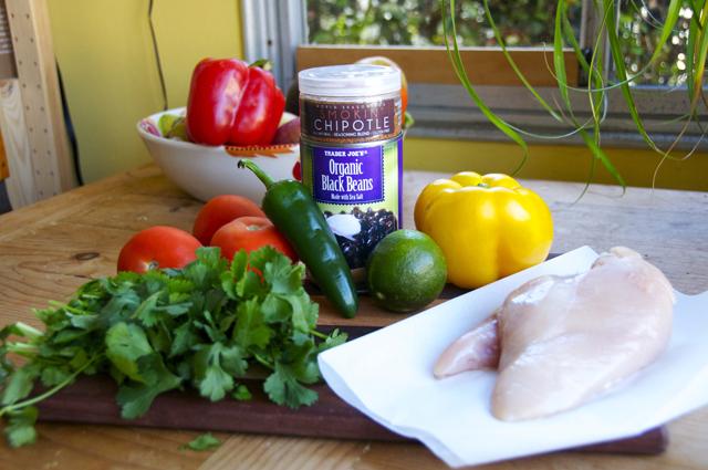 ingredients for smokin chipotle chicken salad