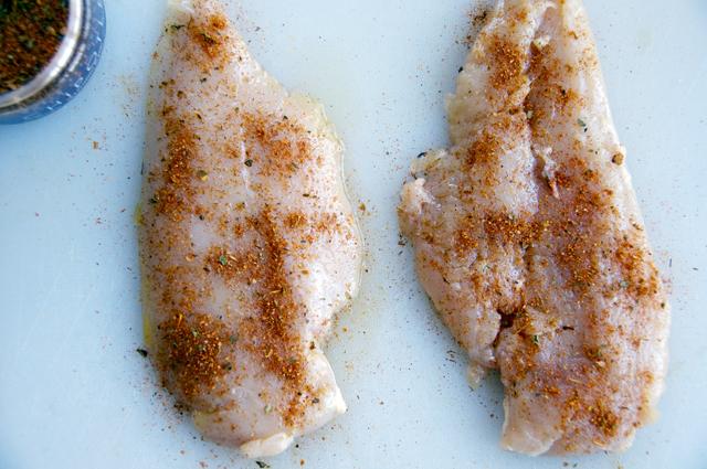 butterflied chicken breast with chipotle seasonings