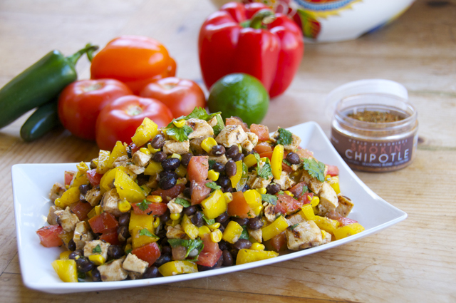 how to make smokin' chipotle chicken salad