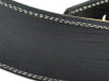 "2.5"" Black Iguana Leather Guitar Strap w/ Creme Stitch"