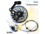 Lambretta Casa Pro Disc Brake Kit Black - Series 1-2 (DW-CPX130NS1L)