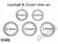 Lambretta Gear Layshaft Shim Kit 5 Speed RLC (E84-CPX160J)
