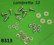 Lambretta Seat Bench Hardware Kit S1/2/3 Casa (167-B313x)