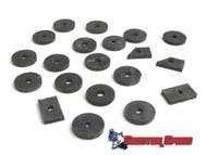 Lambretta Body Anti Vibration Rubber Kit Casa - Black (72-8013410)