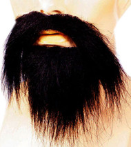 long beard mustache black grey