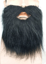 Grey, dark brown, black beard mustache elastic van dyke