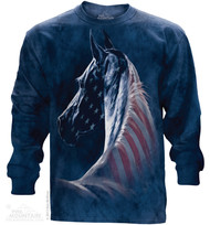 PATRIOTIC HORSE HEAD - LS