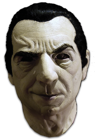 Bela Lugosi as Dracula full overhead deluxe latex mask with hair.
