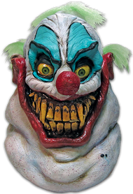 Sloppy the Clown is the first in our Clowns of Death series; a line of clown masks designed to be the most unique and scary Clown Masks ever produced. Sloppy the Clown is a true nightmare from the Carnival era, complete with shark like teeth, huge smile and piercing eyes, Sloppy is ready to say hello to little children everywhere. So make sure to get your clown shoes on and join the big top as Sloppy the Clown.