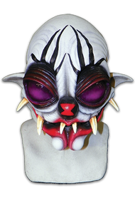 The Spider Clown is without a doubt the weirdest Scary Clown Mask in our all-new Clowns of Death series. The Clowns of Death is a line of Clown Halloween Masks designed to be the most unique and scary Clown Halloween Masks ever produced. Before turning into the The Spider Clown, an old Circus Clown named Erich decided to visit the sideshow that accompanied the traveling circus. Among the freaks of nature on display was an enormous Black Widow Spider in the biggest jar Erich had ever seen. Erich decided to get a closer look at the jar and, in the process, knocked the jar over! When the jar exploded, the Black Widow Spider was freed and proceeded to attack Erich! What became of Erich is now preeminently on display within the tent of the Trick or Treat Studios sideshow. Now you can become the most horrifying Clown to ever walk the earth, The Spider Clown.ᅠ