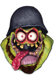 Following in the footsteps of 60s Hot Rod classic icon Rat Fink, Johnny Ace and Kali Verra continue to honor the spirit of Ed モBig Daddyヤ Roth with their amazing creation, now a three dimensional Halloween Mask, Surf Kook. This wacky weird biker, with his bulging eyes, wacky tongue, helmet and beard is sure to be the hit of the Halloween Costume Party!