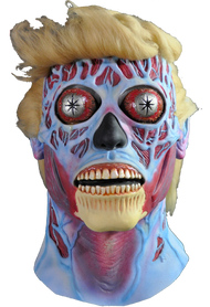 Trick or Treat Studios is proud to present the Official They Live Alien Donald Trump Edition Halloween Mask. From Director John Carpenter and starring Rowdy Roddy Piper, They Live follows Nada, who discovers the ruling class within the elite are in fact aliens managing human social affairs through the use of subliminal messages in mass media and concealing their appearances through the use of a signal on top of a major TV broadcast station. They Live thrilled audiences in 1988 and now in 2016, They Live is more timely than ever. With the upcoming 2016 election on the horizon, one must question if, just like in They Live, the Presidential candidates are in fact Aliens supporting the elite class. Now you can get the first in a very limited collection of They Live Alien Masks made to look like the Presidential hopefuls. Again, this is a very limited run, so make sure to get your Donald Trump They Live Alien Mask today.  They Live © Universal Studios. Licensed by Universal Studios. All Rights Reserved.