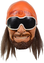 Trick or Treat Studios and the World Wrestling Entertainment are proud to present the officially licensed Randy Macho Man Savage Mask. Sculpted by Michael Rotella, this mask is based on hundreds of photos of the the Macho Man, provided generously from the WWE. So get yourself the official Randy Macho Man Savage Mask and give the flying elbow to everyone in your the neighbors this Halloween. Oh Ya!!!