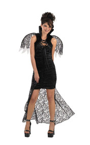 CAPE BLACK LACE WITH WINGS