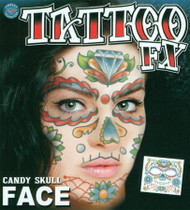 FACE TATTOO CANDY SKULL