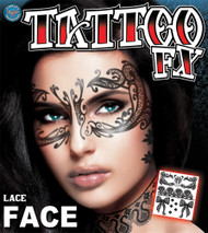 LACE FACE TATTOO