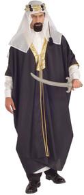 Headpiece, under-robe and robe are included. Shoes and sword not included.