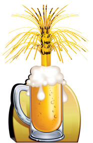 BEER MUG CENTERPIECE