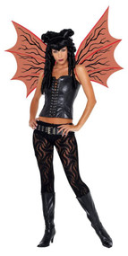 DEMONETTE WINGS RED W/BLACK VEINS