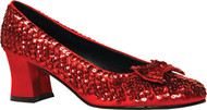 SHOE SEQUIN RED WOMENS